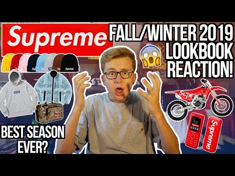 INSANE SUPREME FALL/WINTER 2019 LOOKBOOK LIVE REACTION! | PAISLEY BOXLOGO! | BEST SEASON EVER...?