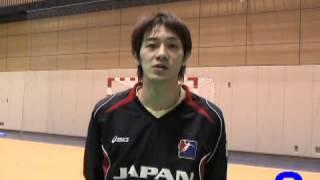ハンドボール2008北京オリンピックアジア予選 日本代表 海道衛秀(トヨタ紡織九州)