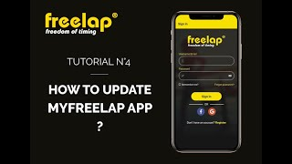 How to update MyFreelap app - Tutorial