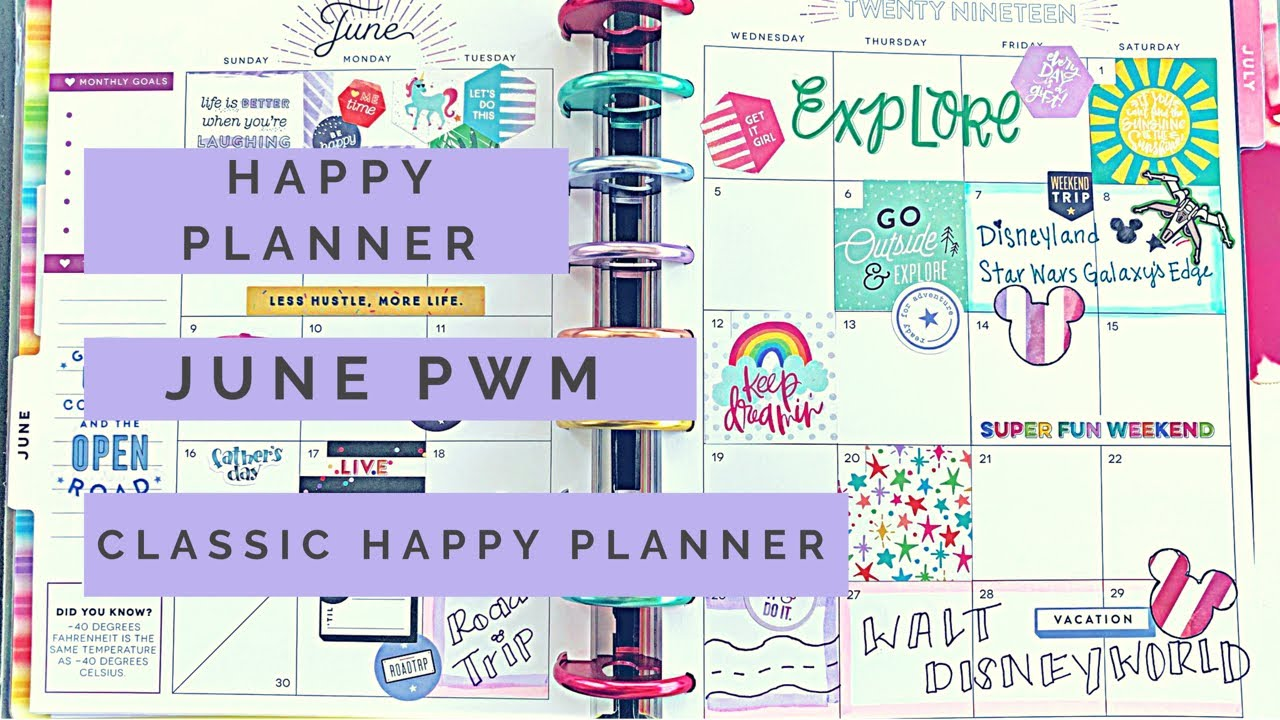 Plan With Me: June Monthly Spread | Classic Happy Planner