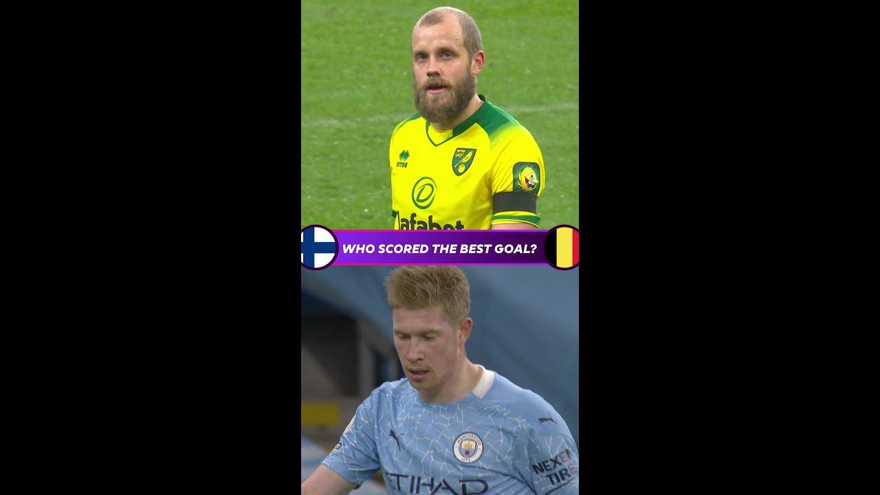 Who scored the better goal?   Finland v Belgium   Euro 2020