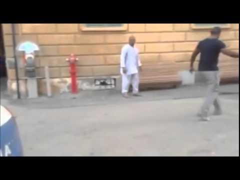 La rissa in piazza Gavinana  a Pistoia