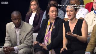 Christian says humanists shouldn't have marriage rights. Kate Smurthwaite gives an amazing response.