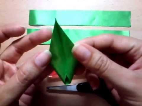 Hojas para adornos hojas para flores en cinta raso youtube - Flores de telas hechas a mano ...