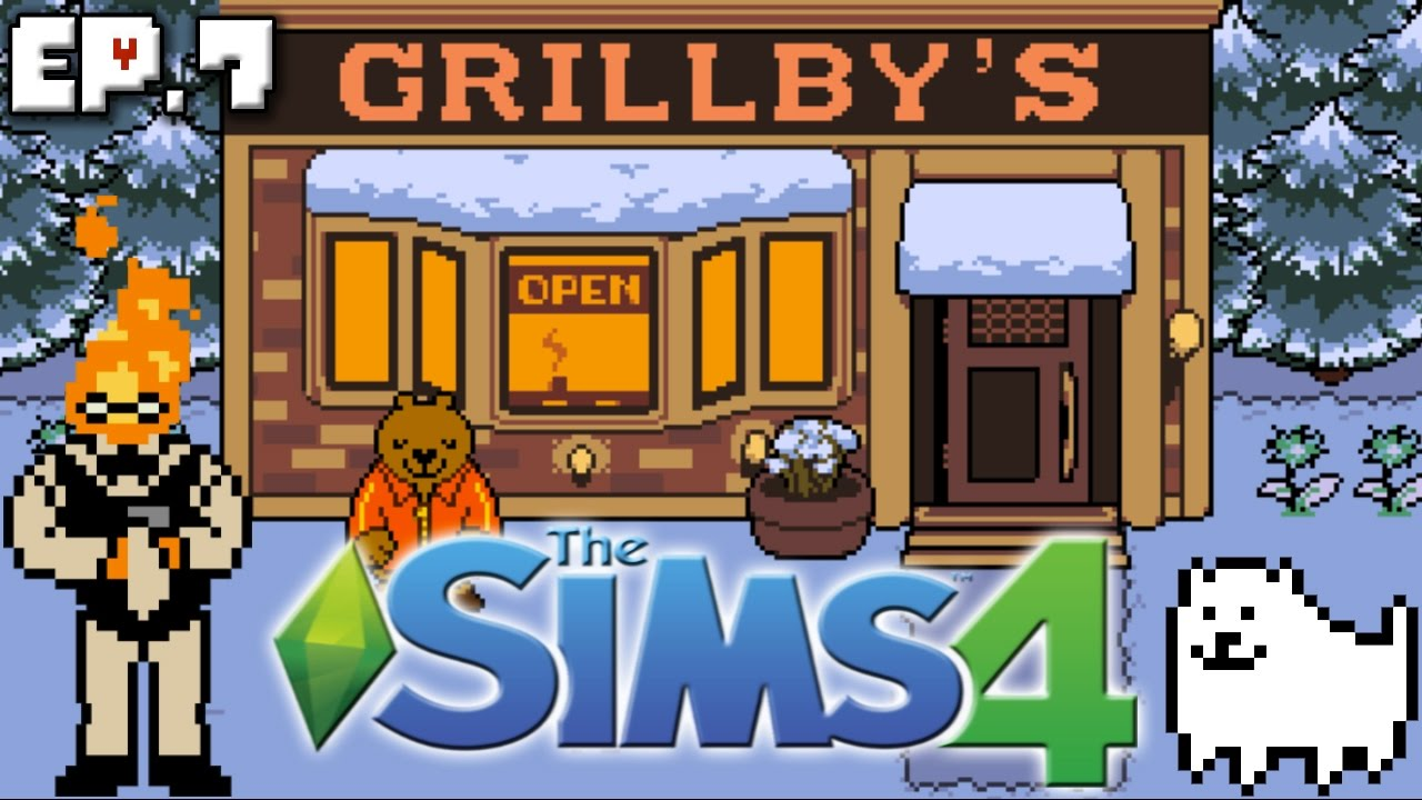 friendship date at grillby s the sims 4 undertale theme ep 7