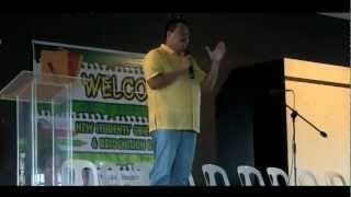VICE MAYOR MEL GECOLEA INSPIRES NEW STUDENTS OF PAMANTASAN NG CABUYAO