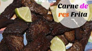 Carne de res frita (estilo Dominicano)  Cocinando con Ros Emely