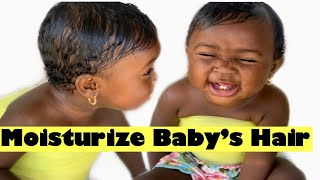 How to moisturize your Newborn/baby hair!! (Newborn/baby hair care)