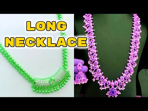 Long Necklace gold designs || Long Haram south indian jewellery