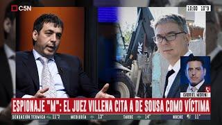 """Espionaje  """"M"""": Villena cita a Fabián De Sousa como víctima"""