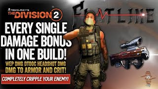 The Division 2 - I've Never Had SO Many Bonuses All In 1 Build! Insane DMG With Crazy Survivability!