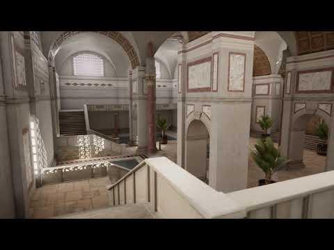 Roman Bath House Real-Time Ray-Tracing
