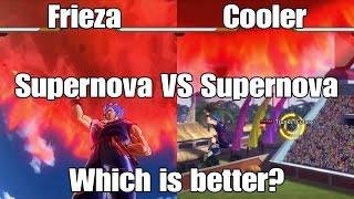 Dragon Ball Xenoverse Skill Test Frieza Supernova VS. Cooler Supernova!!!!