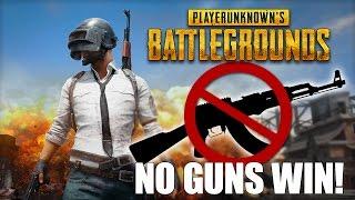 Battlegrounds Pacifist Mode: No Weapons! - WINNER WINNER