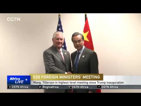 Wang Yi, Tillerson in highest-level meeting since Trump inauguration