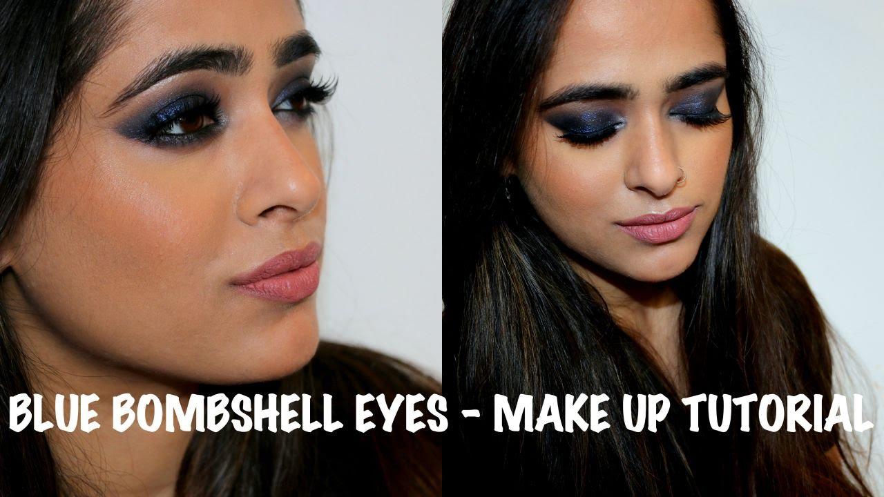 foto Bombshell Blue Smoky Eye Makeup Tutorial