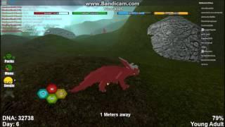 Roblox| Dinosaur Simulator| Life and death of a triceratops!| Part 2|