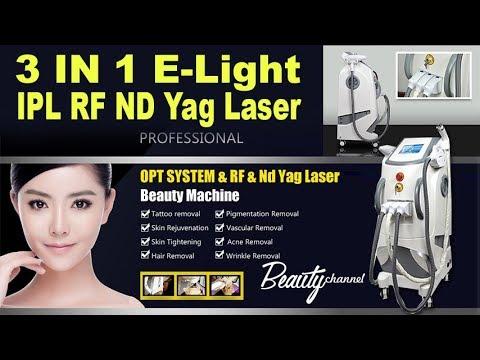 OPT 3 IN 1 IPL RF Nd Yag Laser Machine   Beauty Channel