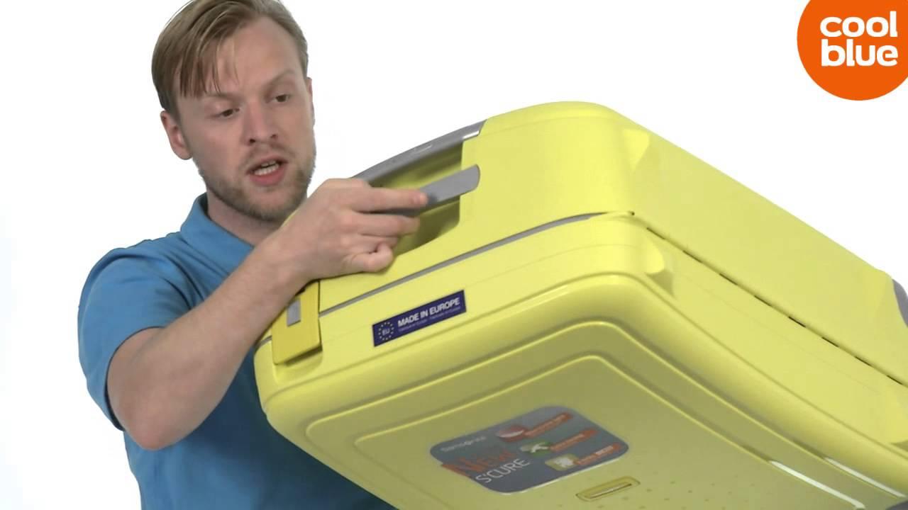 samsonite s 39 cure spinner 69cm koffer productvideo nl be. Black Bedroom Furniture Sets. Home Design Ideas