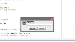 3.- Java en Consola, Lectura por teclado en Caja de Texto usando Swing