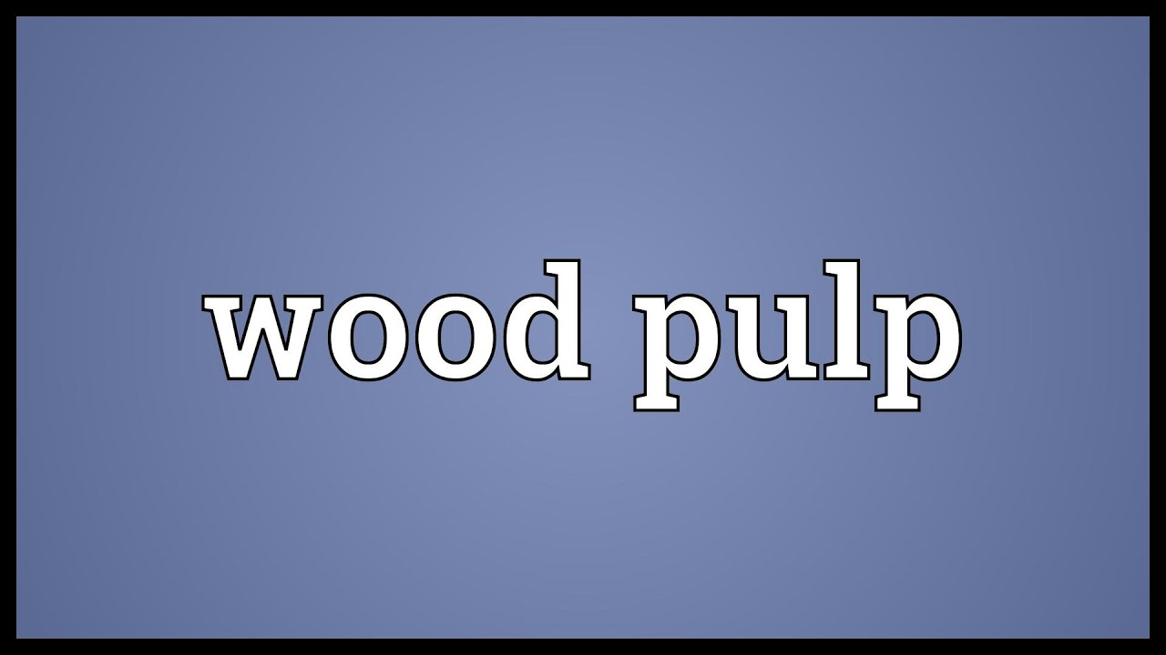 Wood pulp Meaning