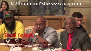 Omali Yeshitela In Moscow, Tells World Of African's Condition In U.s.