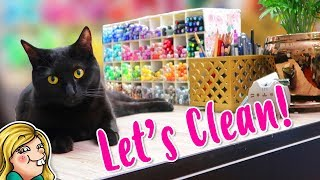 CLEAN WITH ME - Art Room Organization