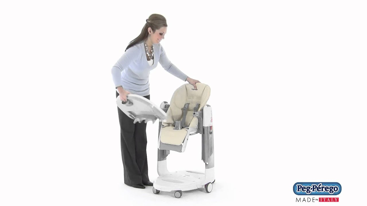 peg perego tatamia high chair fancy rental 2011 how to remove the tray youtube