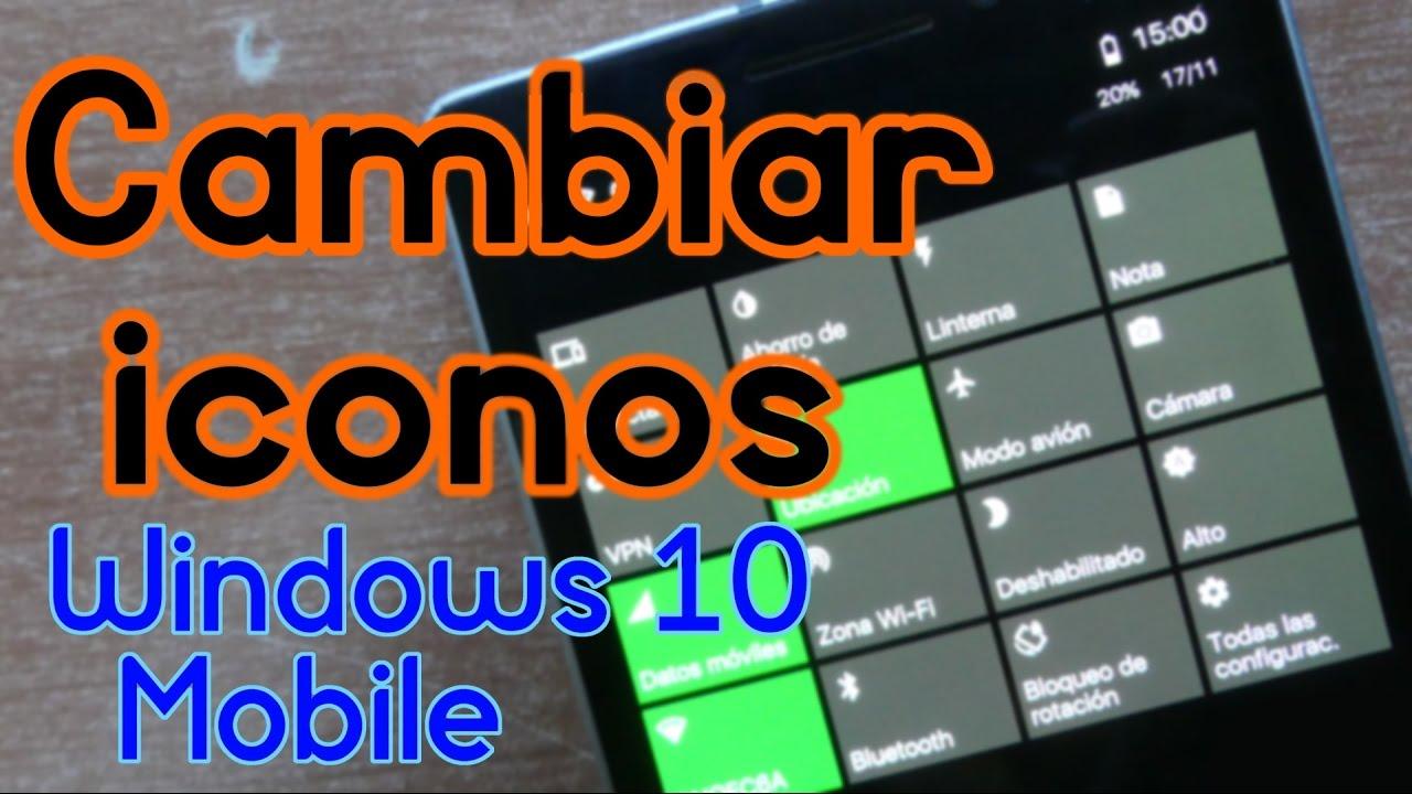ICONOS MINIMALISTAS en Windows 10 Mobile con Interop Unlock