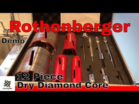 Rothenberger 12 Piece Diamond Tile Core Drill Set 89020