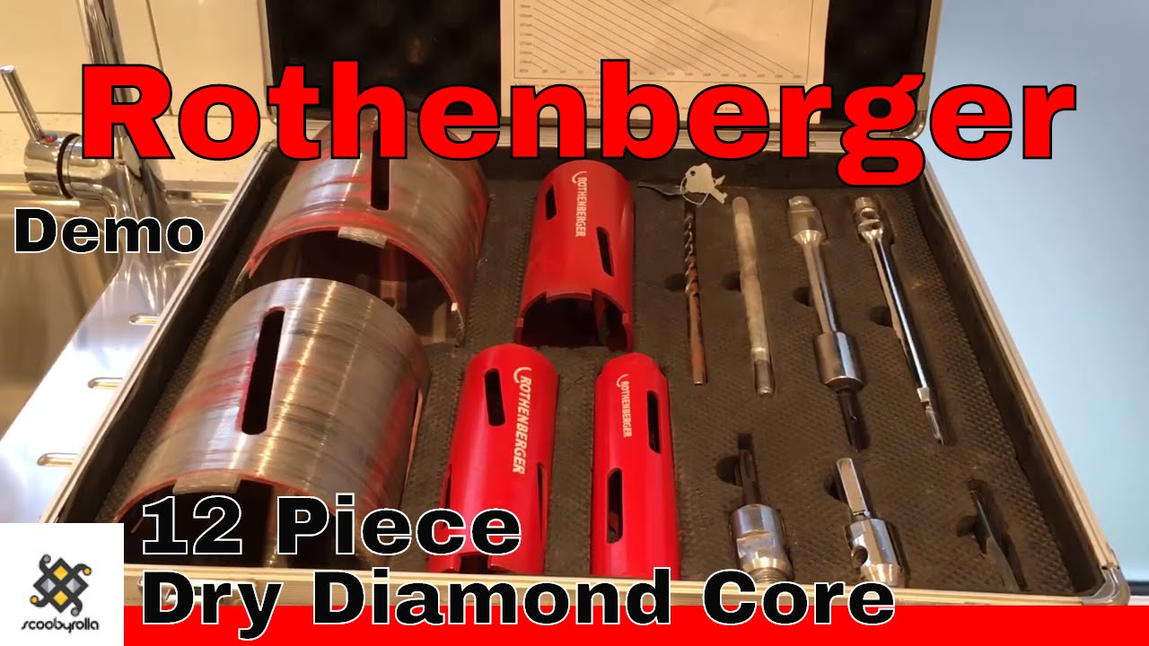 Rothenberger 12 Piece Dry Diamond Core Drill Kit \u0026 Demo - YouTube