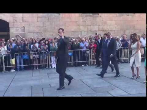Llegada de los Reyes Felipe y Letizia a la Universidad de Salamanca
