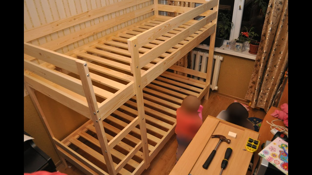 Сборка двухъярусной кровати Ikea Mydal Ikea Mydal Bunk