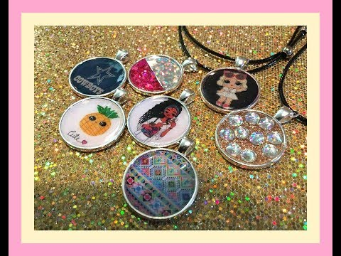 DIY Bezel Jewelry Mod Podge Dimensional Magic