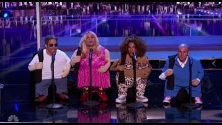 The Quiddlers Surprise by Playing TINY LITTLE AGT Judges | America's Got Talent 2017