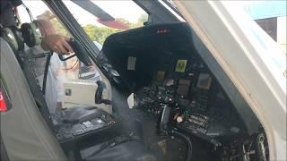 Desinfecção de cabine de comando de helicóptero Sikorsky S-76 C++