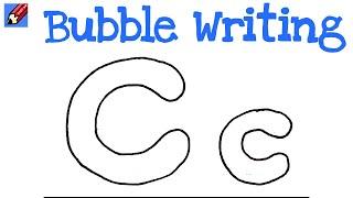 كيفية رسم فقاعة الكتابة سهلة - حرف C