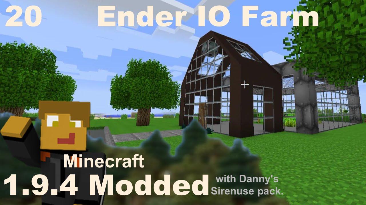 Modded 1 10 2 - E20 - Ender IO Farm, Wireless Storage & Tech Greenhouse by  Danny & Son