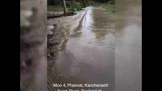 Flooding in  Phaiwat, Kanchanadit, Surat Thani - Tropical Storm Pabuk