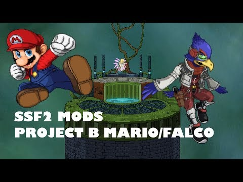 SSF2 Mods, Project B mario and falco showcase