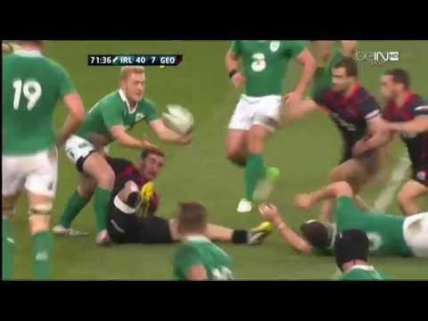 Felix Jones Second Try Ireland V Georgia Autumn International 2014 HD