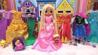 LOL Surprise Dolls Makeup Hairstyle And Clothes Ideas Disney Princess Eyeshadow Lipstick