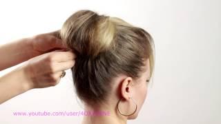Прическа для длинных волос бабетта. Hairstyle For Long Hair Babette