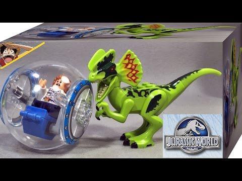 lele 쥬라기월드 딜로포사우루스 공룡과 자이로스피어 레고 짝퉁 미니피규어 조립 리뷰 Lego knockoff Jurassic World Dino