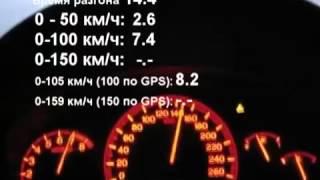 Honda Accord 2.4, разгон 0-100 кмч за 7.4 по спидометру