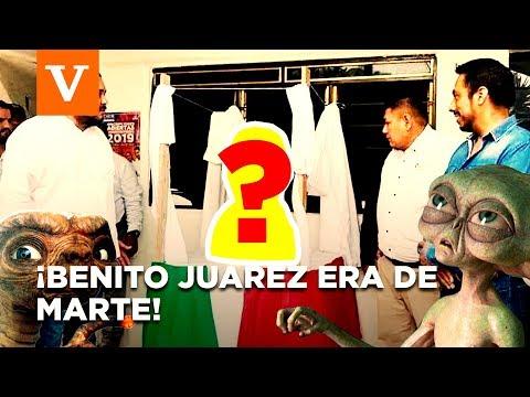 Los Mejores MEMES del busto de Benito Ju�rez extraterrestre