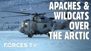 Learning To Fly And Fight: Military Helicopters In The Arctic • EXERCISE CLOCKWORK | Forces TV