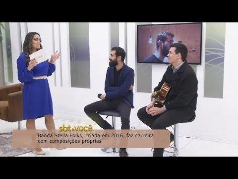 Música e entrevista com a banda Stella Folks, no SBT e Você (15/09/2018)