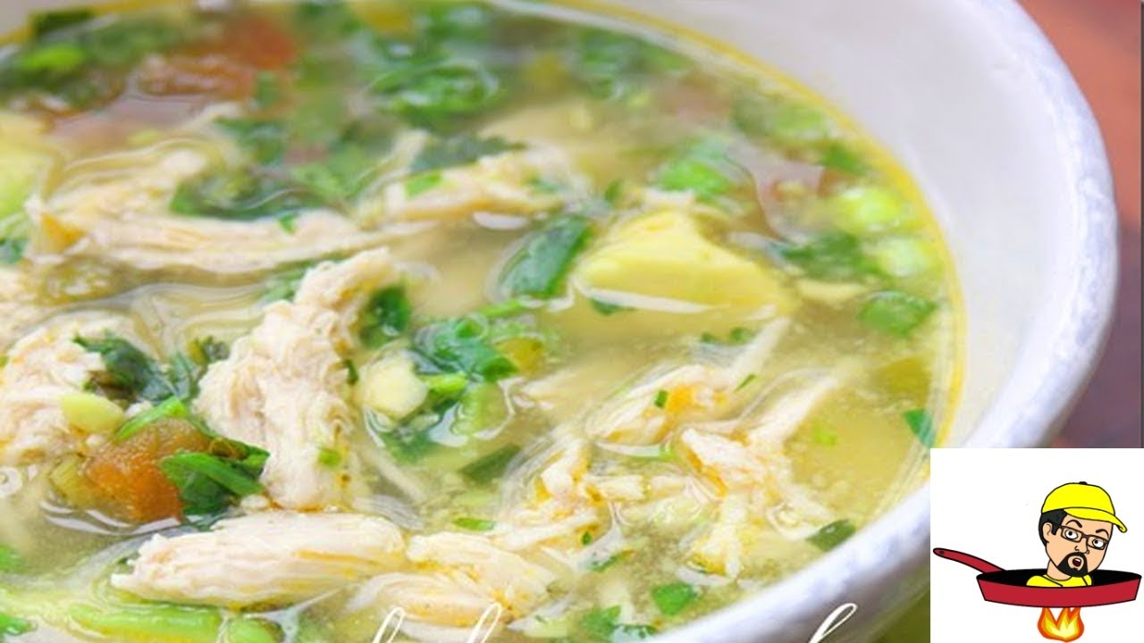 Chicken Avocado Soup - YouTube