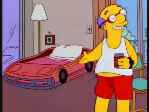 Simpsons Racing Car Bed